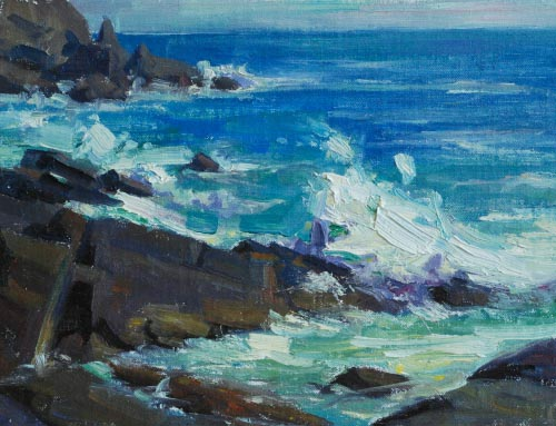 Crashing Waves Monhegan